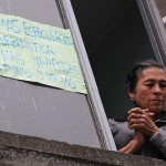 """No more urban speculation – No more ruined and empty houses"" (Bogota, October 2012)"