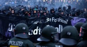 Demonstration im Schanzenviertel in Hamburg