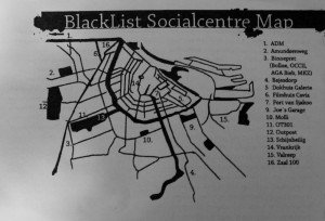 List of squats and social centres in Amsterdam on the blacklist booklet
