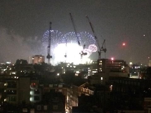 Happy New Year from the Love activists - this is the view from the roof of out current squat. May the new year bring the revolution! #loveactivists #dragemout