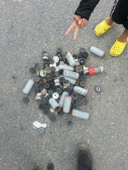 Tear gas shot into the jungle