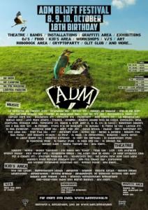 official festival poster ADM Blijt Festival