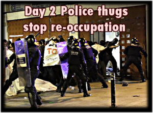 cops stop reoccupation