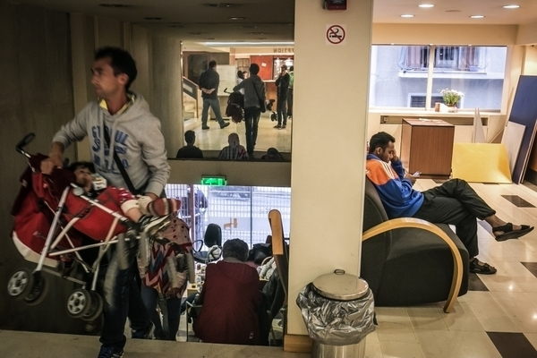 Solidarity space and home to 400 refugees: the occupied Hotel City Plaza in Athens